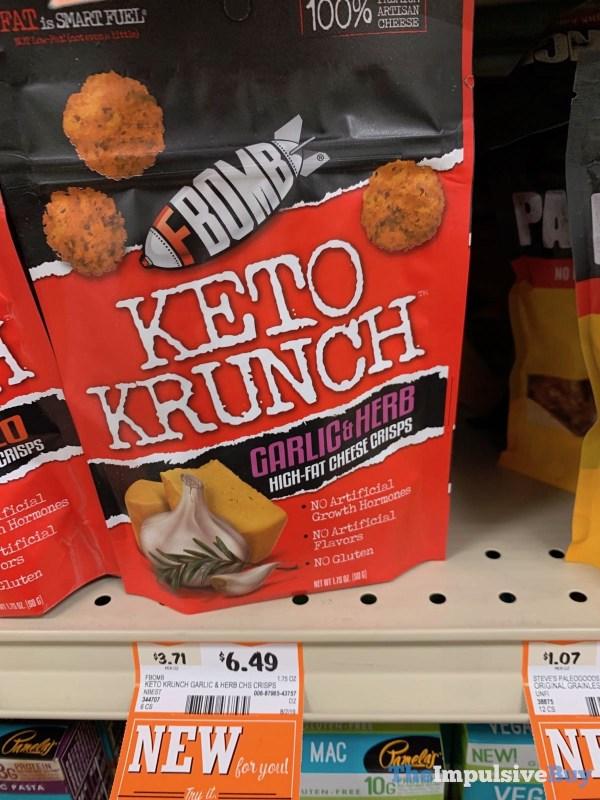 FBomb Keto Krunch Garlic  Herb High Fat Cheese Crisps