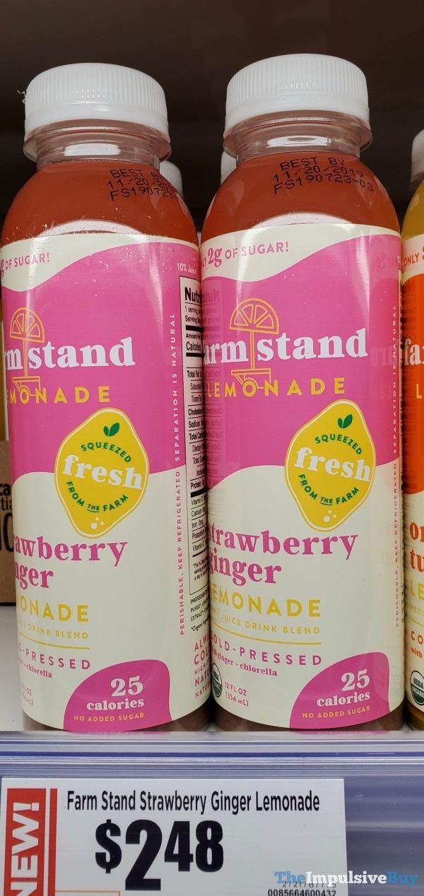 Farm Stand Strawberry Ginger Lemonade