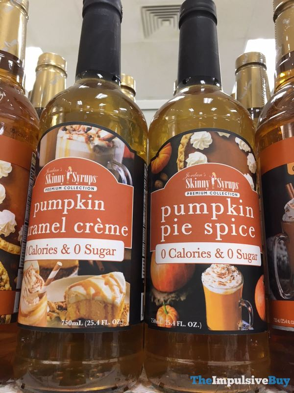 Jordan s Skinny Syrups Premium Collection  Pumpkin Caramel Creme and Pumpkin Pie Spice