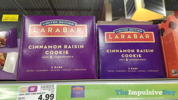 Larabar Limited Edition Cinnamon Raisin Cookie Bars