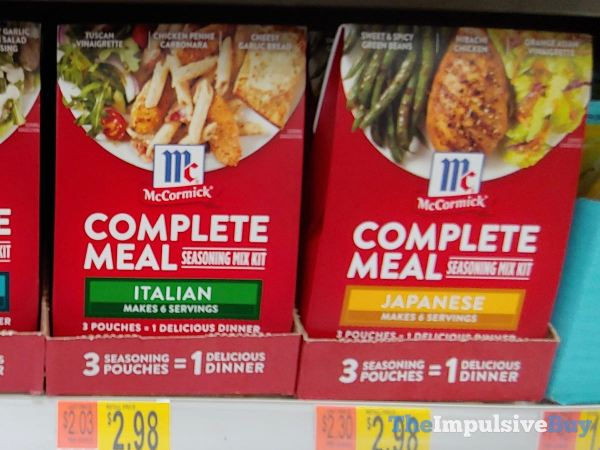 McCormick Complete Meal Seasonning Mix Kits  Italian and Japanese