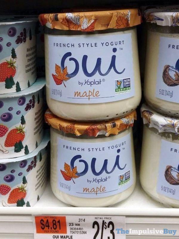 Oui by Yoplait Maple French Style Yogurt