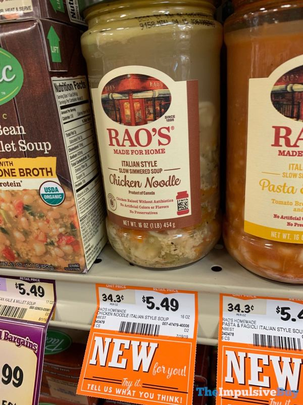 Rao s Italian Style Slow Simmered Soup Chicken Noodle
