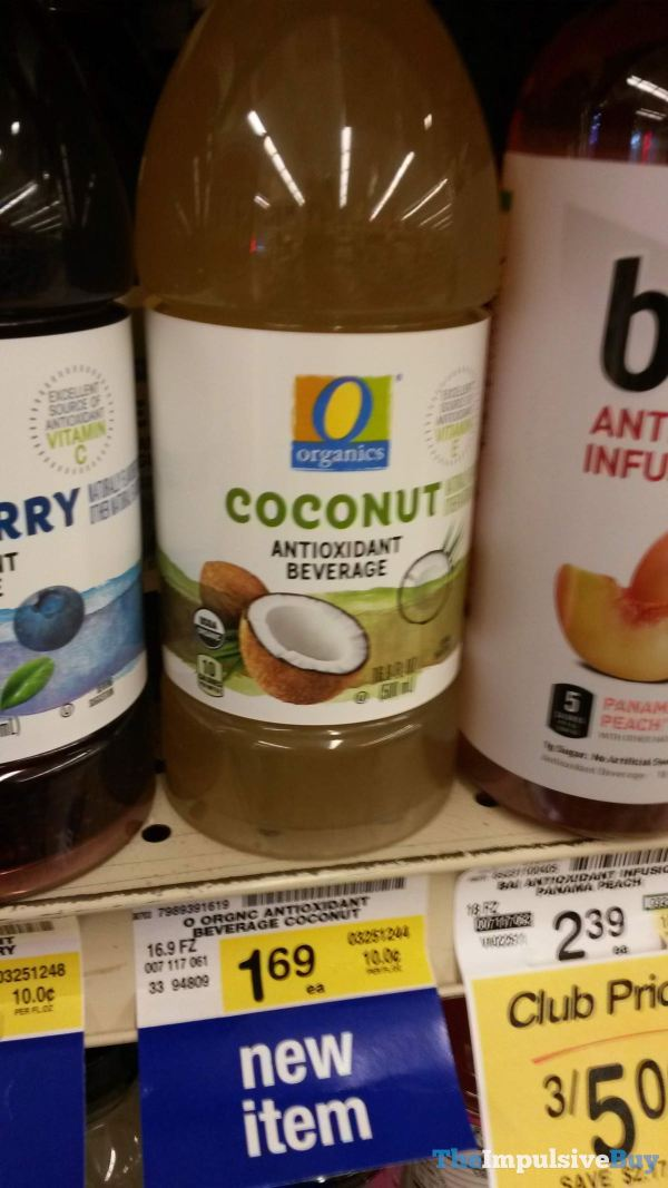 Safeway Organics Coconut Antioxidant Beverage