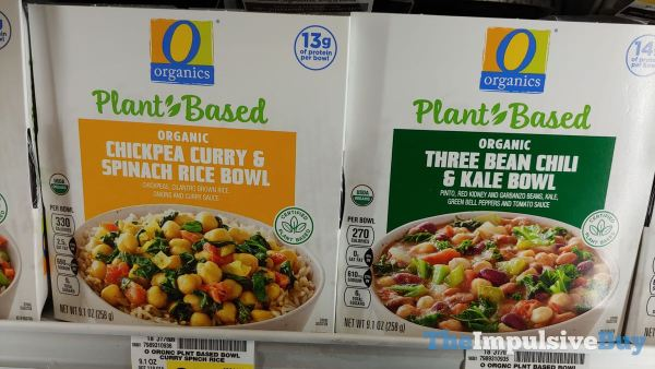 Safeway Organics Plant Based Bowls  Chickpea Curry  Spinach Rice and Three Bean Chili  Kale
