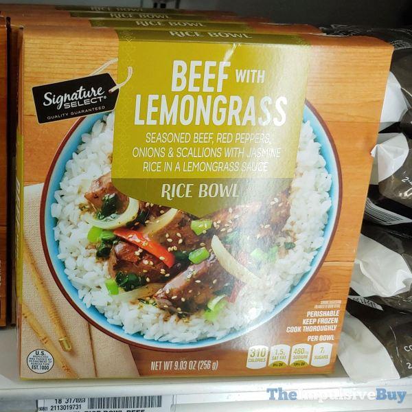 Signature Select Beef with Lemongrass Rice Bowl