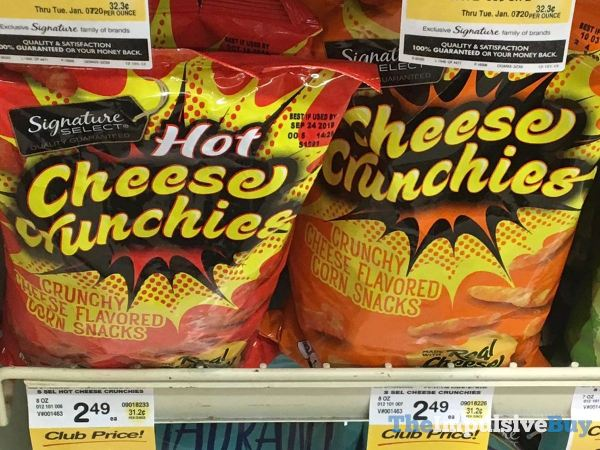 Signature Select Hot Cheese Crunchies and Cheese Crunchies