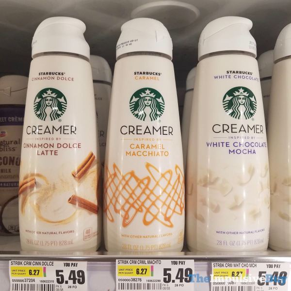 Starbucks Creamers  Cinnamon Dolce Latte Caramel Macchiato and White Chocolate Mocha