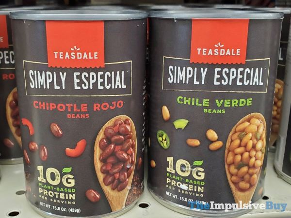 Teasdale Simply Especial Chipotle Rojo and Chile Verde Beans