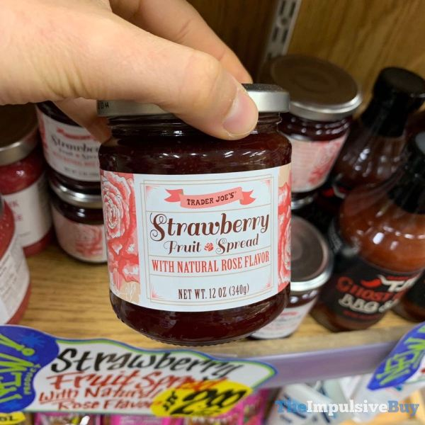 Trader Joe s Strawberry Fruit Spread with Natural Rose Flavor