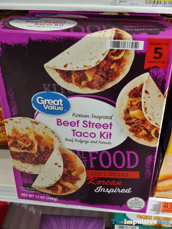 Great Value Global Street Food Korean Inspired Beef Street Taco Kit