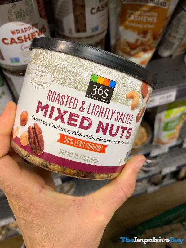 365 Everyday Value Roasted  Lightly Salted Mixed Nuts