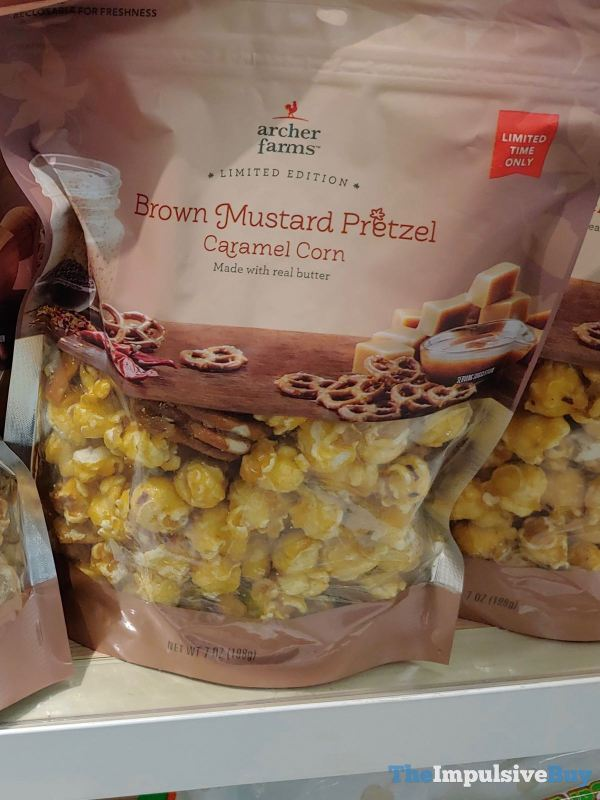 Archer Farms Limited Edition Brown Mustard Pretzel Caramel Corn