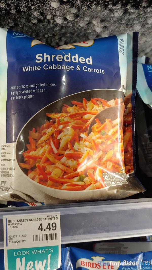 Birds Eye Shredded White Cabbage  Carrots