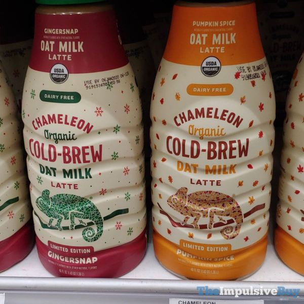 Chameleon Limited Edition Pumpkin Spice and Gingersnap Cold Brew Oat Milk Latte