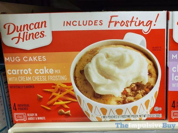 Duncan Hines Carrot Cake Mug Cakes