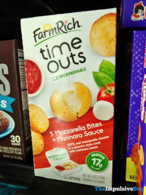 Farm Rich Time Outs Mozzarella Bites and Marinara Sauce
