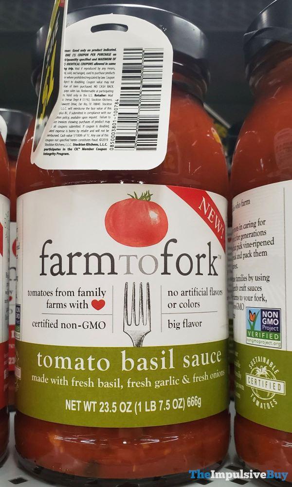 Farm to Fork Tomato Basil Sauce