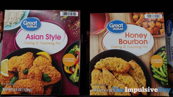 Great Value Asian Style and Honey Bourbon Coating  Seasoning Mixes