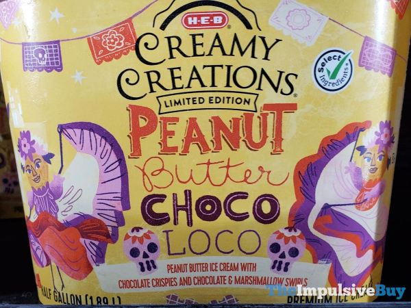 H E B Limited Edition Peanut Butter Choco Loco Ice Cream
