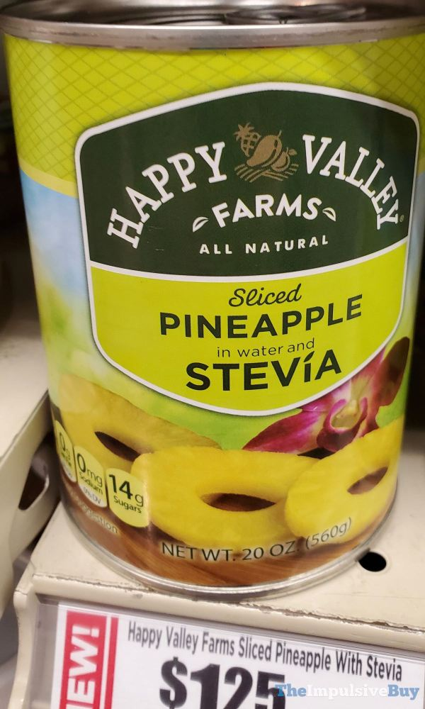 Happy Valley Farms Sliced Pineapple with Stevia