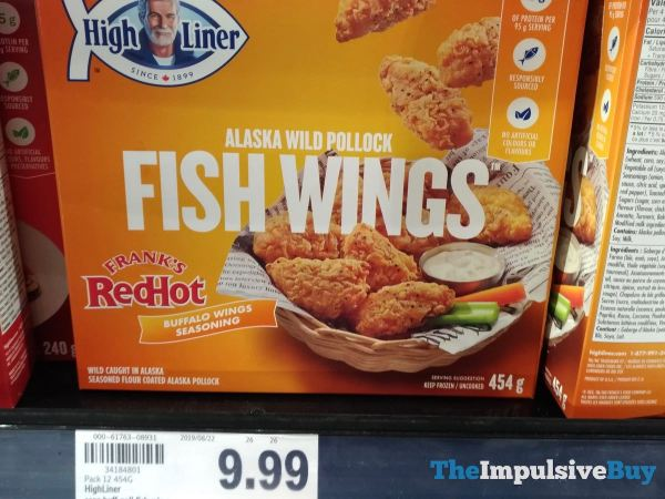 High Liner Frank s Red Hot Buffalo Wings Seasoning Alaska Wild Pollock Fish Wings