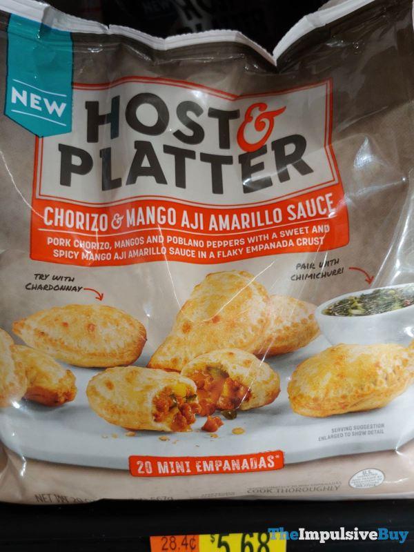 Host  Platter Chorizo  Mango Aji Amarillo Sauce Mini Empanadas