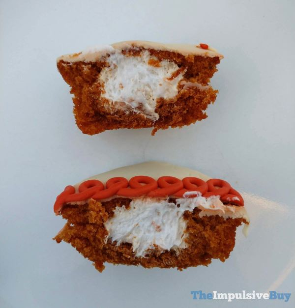 Hostess Limited Edition Iced Pumpkin CupCakes Filling