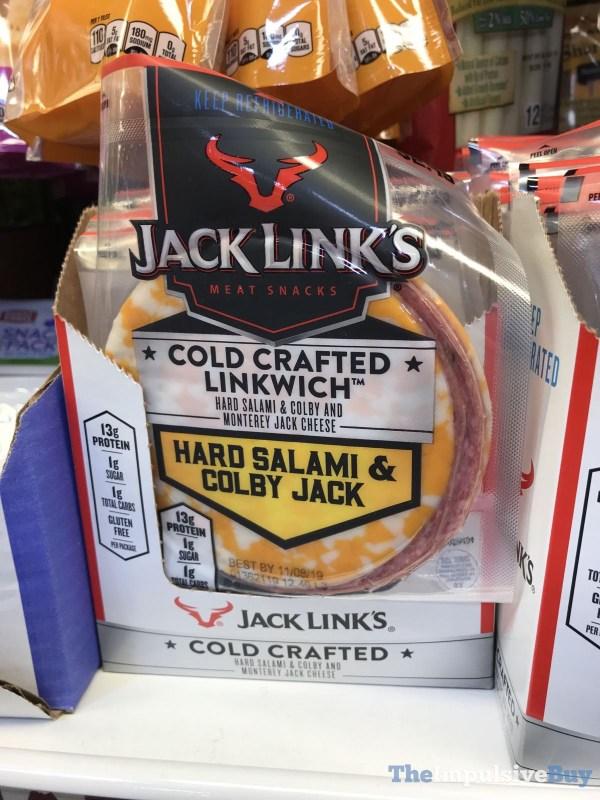Jack Link s Cold Crafted Linkwich Hard Salami  Colby Jack