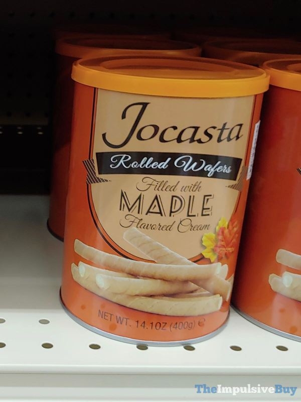 Jocasta Maple Rolled Wafers