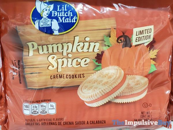 Lil Dutch Maid Limited Edition Pumpkin Spice Creme Cookies
