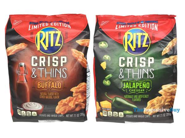 Limited Edition Ritz Buffalo and Jalapeno Cheddar Crisp  Thins