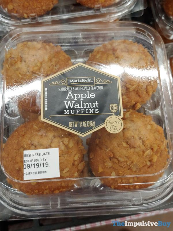 Marketside Apple Walnut Muffins