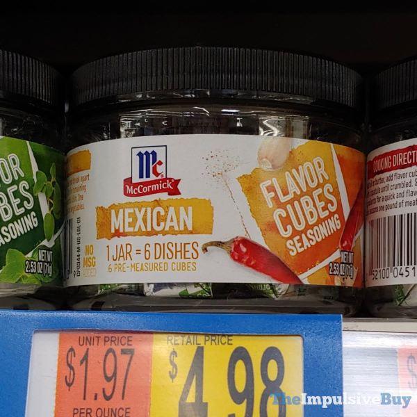 McCormick Mexican Flavor Cubes Seasoning