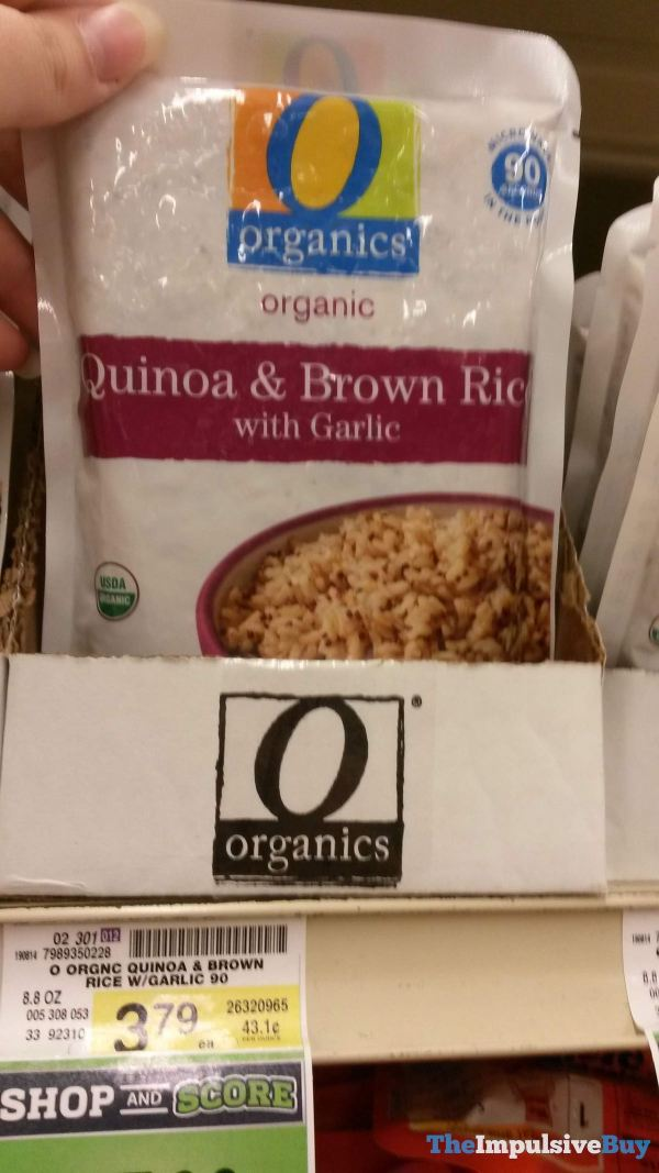 Safeway Organics Organic Quinoa  Brown Rice with Garlic