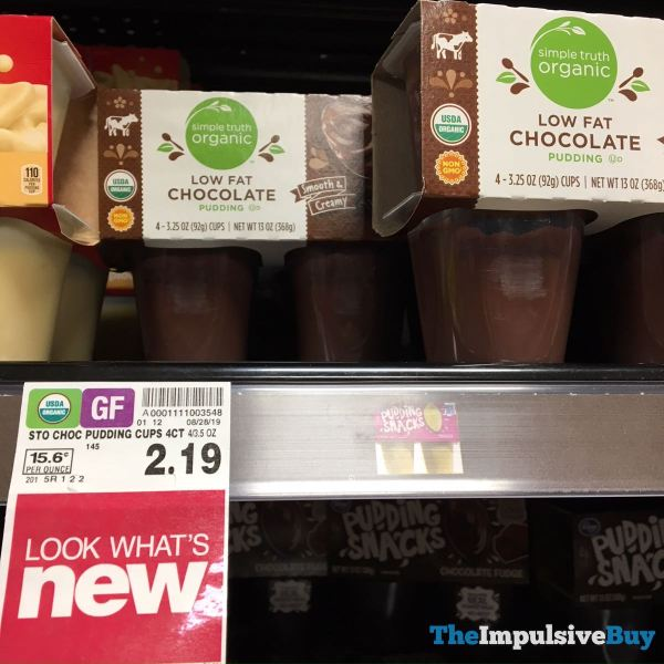 Simple Truth Organic Low Fat Chocolate Pudding