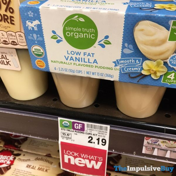 Simple Truth Organic Low Fat Vanilla Pudding