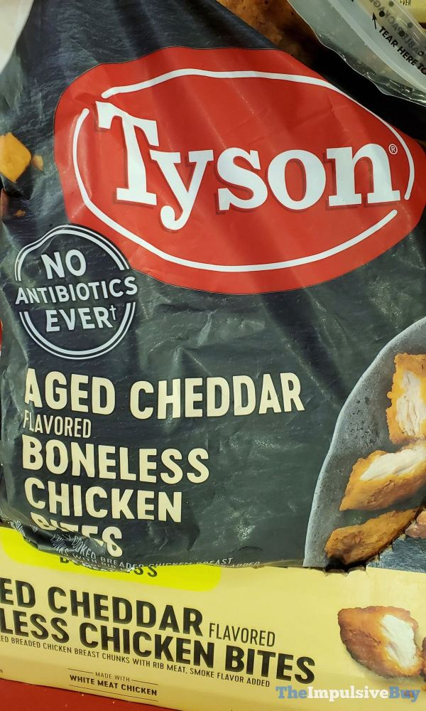 Tyson Aged Cheddar Boneless Chicken Bites