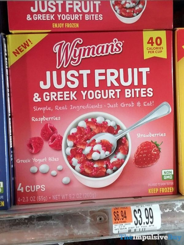 Wyman s Raspberry and Strawberry Just Fruit  Greek Yogurt Bites