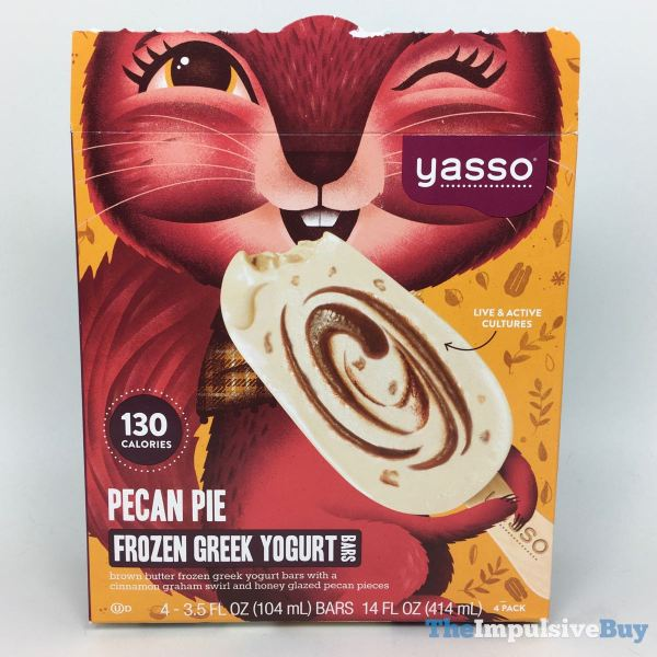 Yasso Pecan Pie Frozen Greek Yogurt Bars Full Box