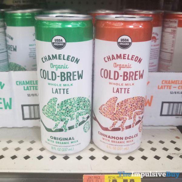 Chameleon Organic Cold Brew Whole Milk Latte  Original and Cinnamon Dolce