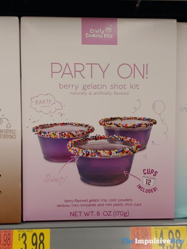 Crafty Cooking Kits Party On Berry Gelatin Shot Kit