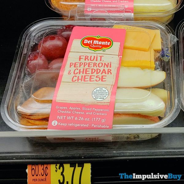 Del Monte Fruit Pepperoni  Cheddar Cheese Plate