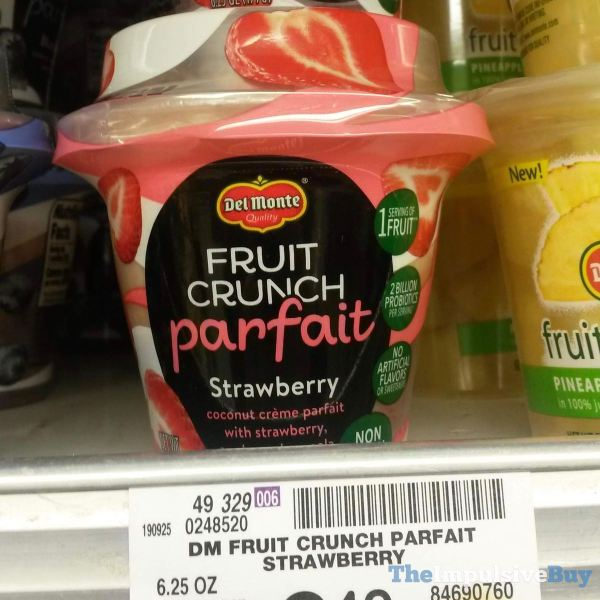 Del Monte Strawberry Fruit Crunch Parfait