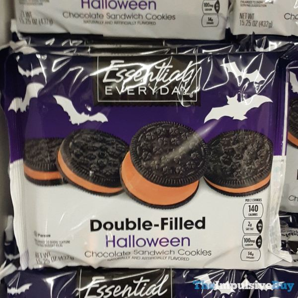 Essential Everyday Double Filled Halloween Chocolate Sandwich Cookies