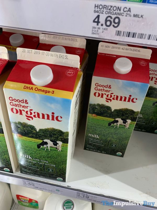 Good  Gather Organic Milk with DHA Omega 3 and Organic Milk