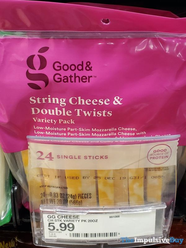 Good  Gather String Cheese  Double Twists Variety Pack