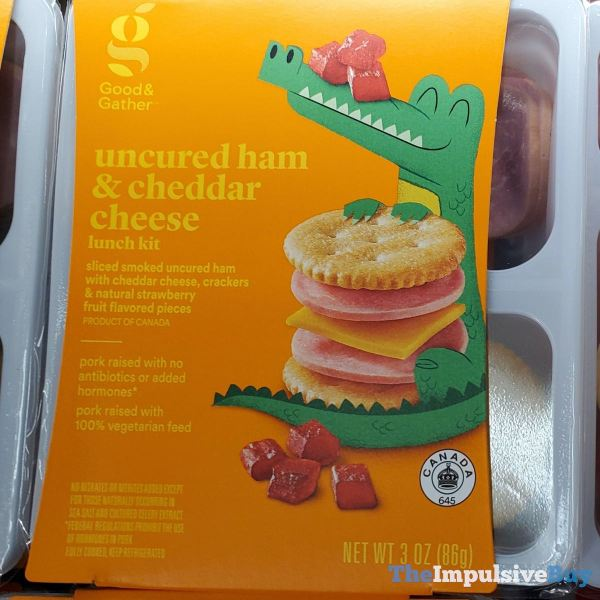 Good  Gather Uncured Ham  Cheddar Cheese Lunch Kit