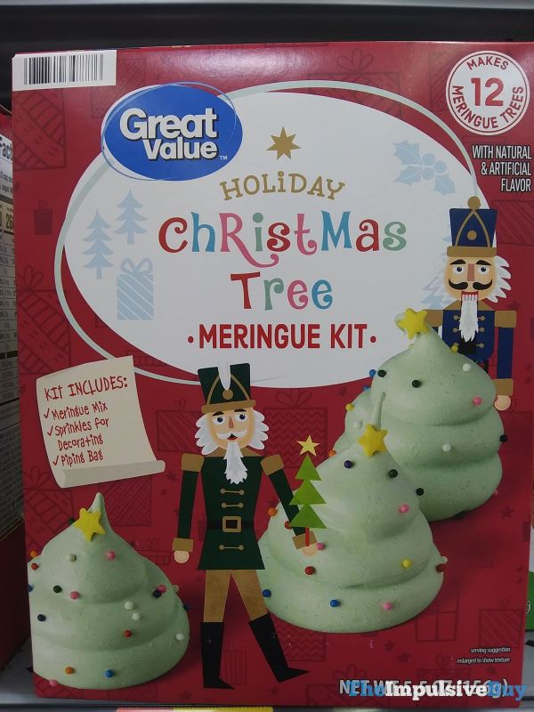 Great Value Holiday Christmas Tree Meringue Kit