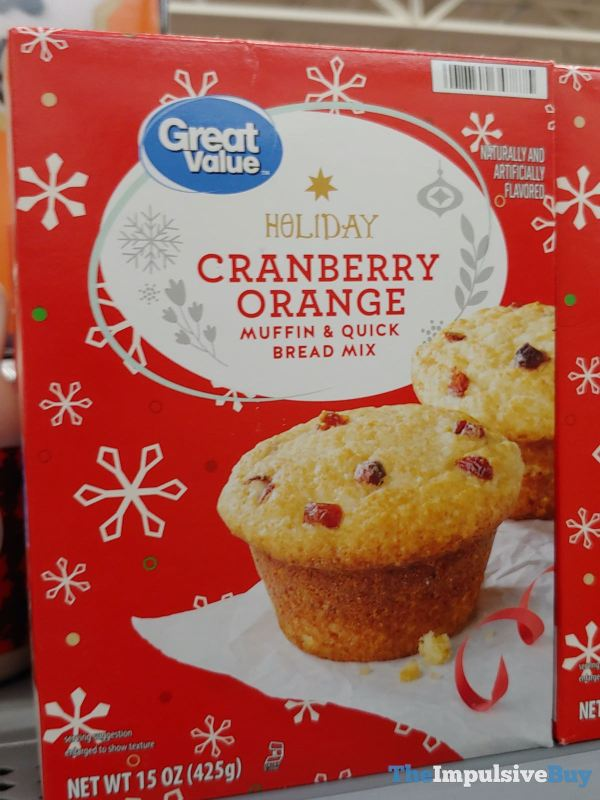 Great Value Holiday Cranberry Orange Muffin  Quick Bread Mix